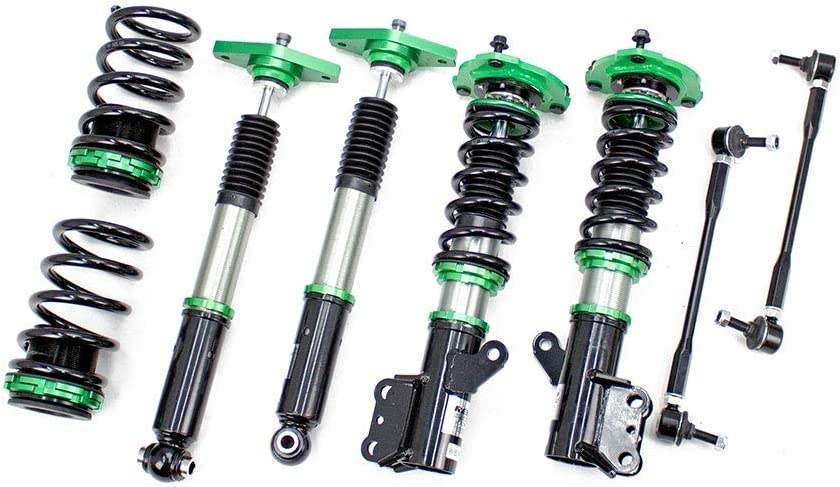 Rev9 R9-HS2-067 Hyper-Street II Coilover Suspension Lowering Kit, Mono-Tube Shock w/ 32 Click Rebound Setting, Full Length Adjustable, compatible with Hyundai Genesis Coupe 2011-16