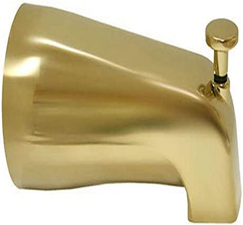 Plumbest D03-001 1 2-Inch FIP Tub and Diverter Spout, Polished Brass