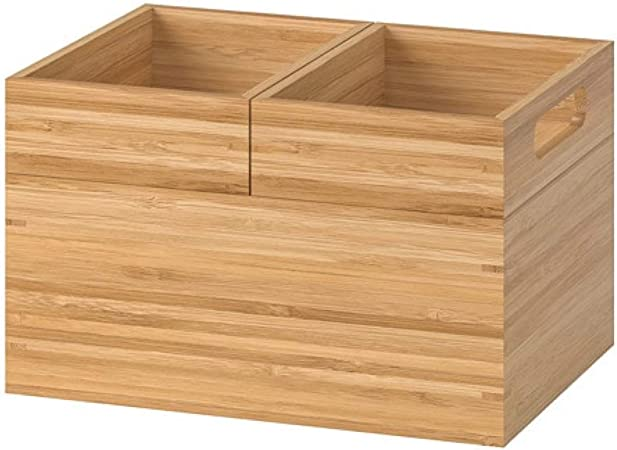 Ikea Dragan Box 502.818.56 Juego de 3 Cajas de bambú para