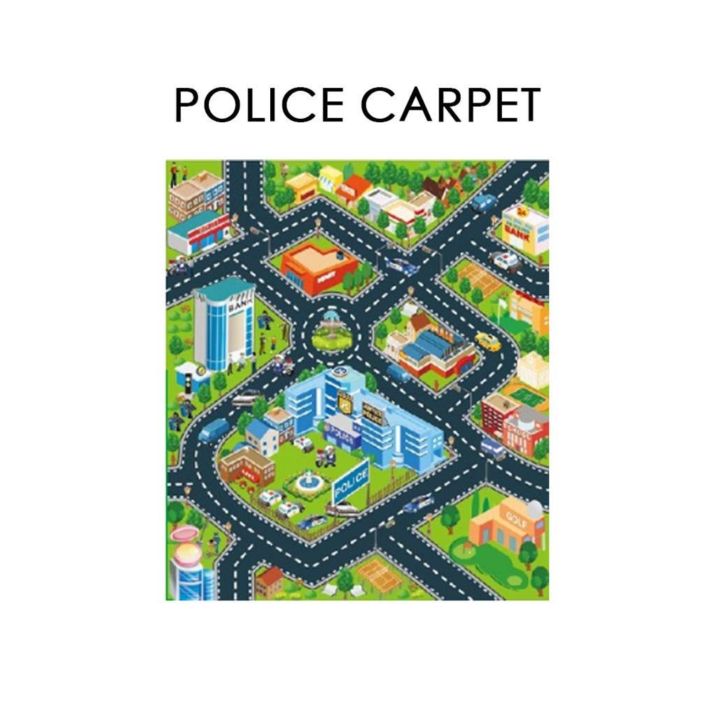Kids Carpet, Suitable for Playing with Cars and Toys,has Road Traffic System,Children's Educational