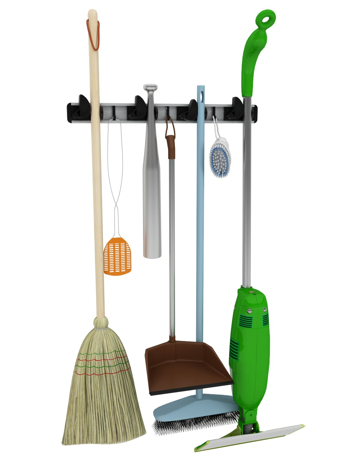 Renegade 20-Inch 4 Grip and 3 Hooks Mop, Broom and Tool Holder