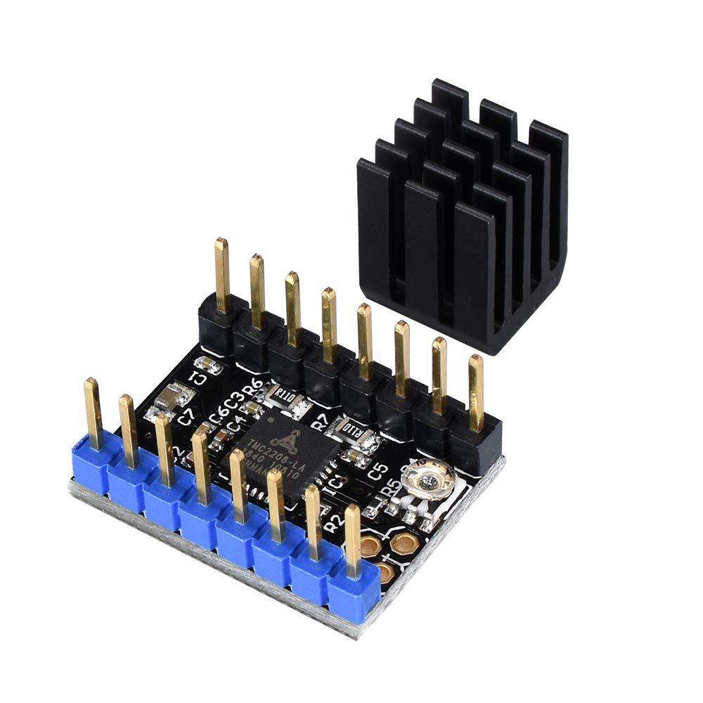 lot de 5 1 module pilote de moteur pas /à pas avec dissipateur thermique pour rampes SKR MKS GEN V1.4 1.4//1.5//1.6 BIQU Direct Pi/èce dimprimante 3D ultra silencieuse TMC2208 V2