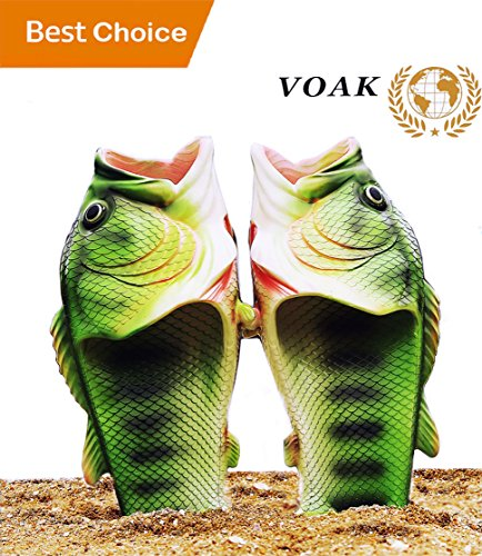 Fish Slippers Fish Sandals | Beach Shoes | Animal Slippers | for Women Men Kids Non Slip Summer Beach Sandals(Male8.5-9.5/Female10-11) - Mens Fish