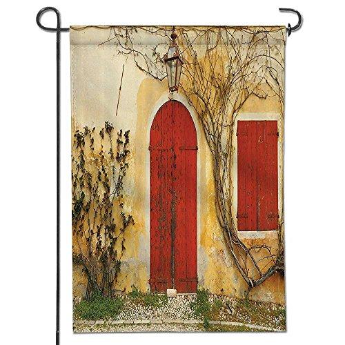 Cheap  SOCOMIMI Inspirational Garden Flag mbeOld Doorway with Blinded Door and Window to..