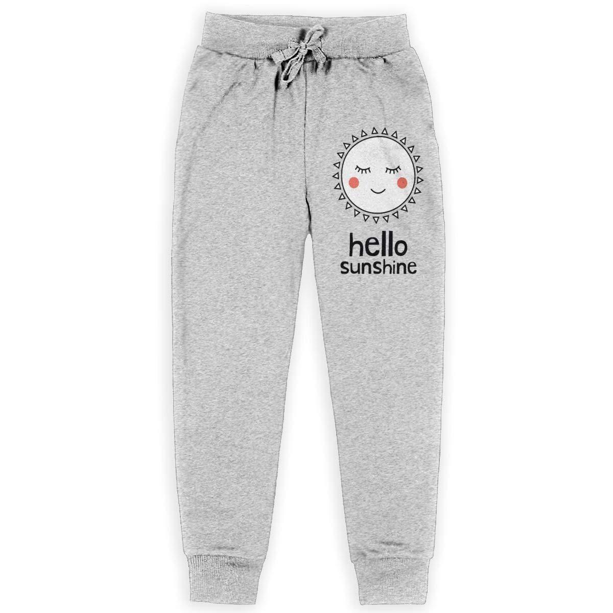 Sunshine Store Hello Sunshine Boys Girls Teenage Long Sweatpant Jogger Pants