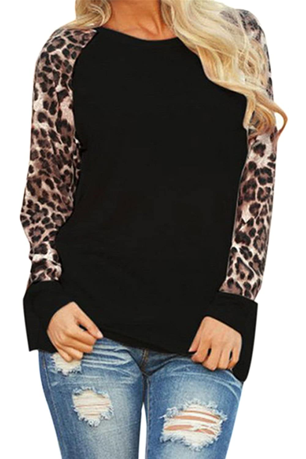 Women's Clothing T-shirts 2018 Brand New Fashion Top Women Sexy Ladies Casual Basic Animal Leopard Printed Long Sleeve T Shirt Top 6-14