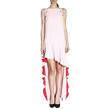 dc7ed81ae52 LEGNANO Dress Enver Satin Pink/RED 1B127U6338NR1: Amazon.co.uk: Clothing