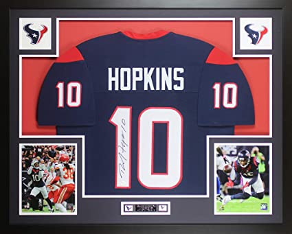 970245ec582 DeAndre Hopkins Autographed Blue Houston Texans Jersey - Beautifully Matted  and Framed - Hand Signed By