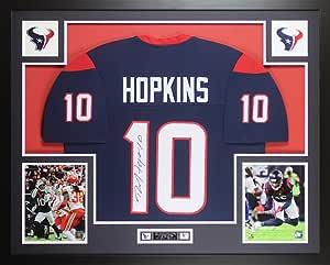 Amazon.com: DeAndre Hopkins Autographed Blue Houston Jersey ...