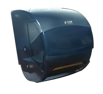 Clar Systems TP6000PT Dispensador Palanca de Papel Bobina Continuo Industrial, Transparente