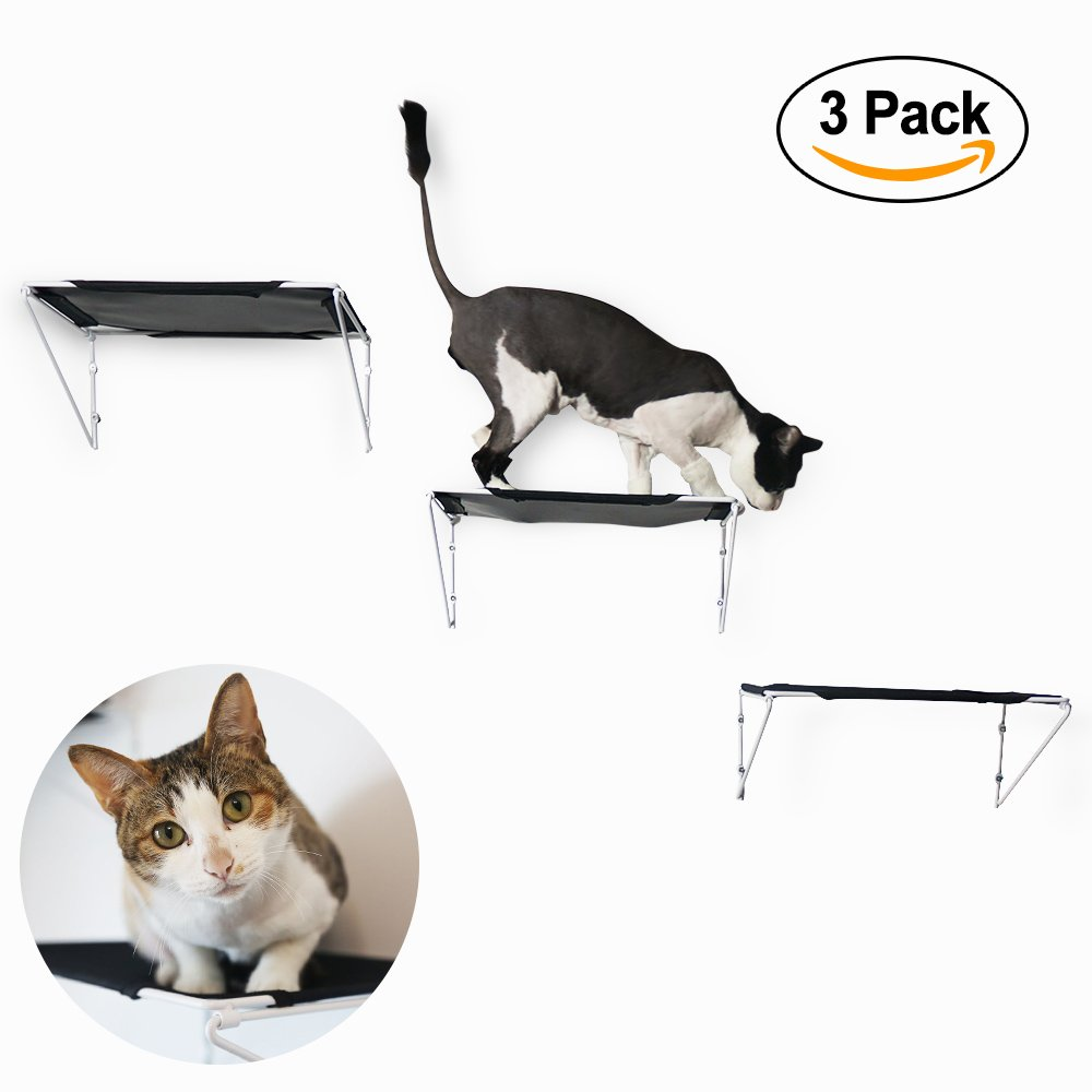 RayCC Cat Shelves Cat Steps Cat Perch Cat Cloud Cat Bed Wall-Mounted Cat Furniture Great for Kitty Small Cats(Set of 3,Small)