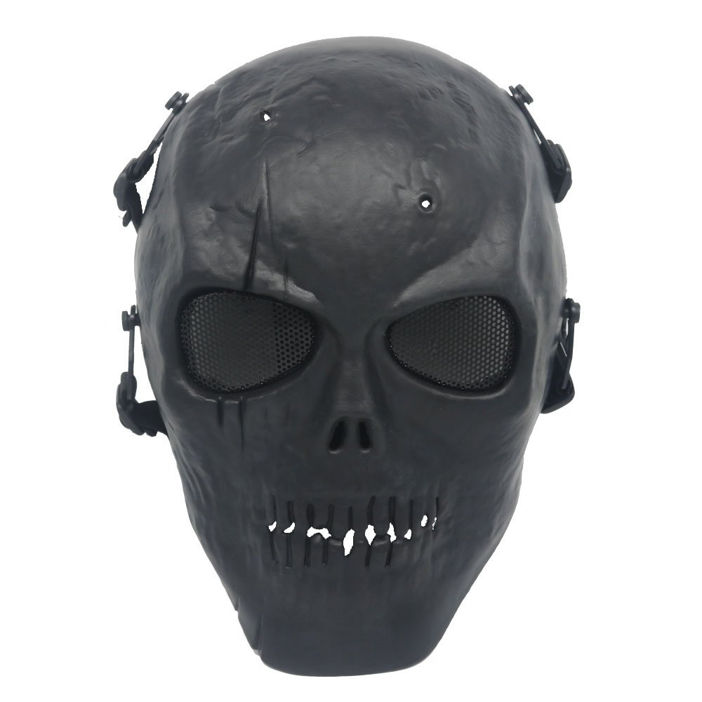 Ecloud Shop Black Army Skull Skeleton Airsoft Paintball BB Gun Game Face Mask