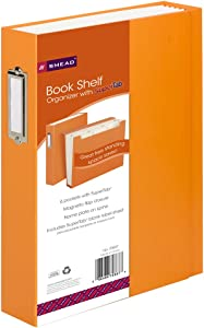 Smead SuperTab Bookshelf Organizer, 6 pockets, Letter Size, Orange (70868)