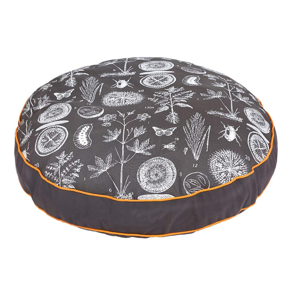 Alppq Kennel Canvas Mat Medium Large Dog Dog Bed Four Seasons Universal Cat Nest Pet Supplies Round Pad Round Pet Bed Luxury Soft Washable Pet Bed Bolster Comfort Bed Zipped Mattress Cat Dog Bed