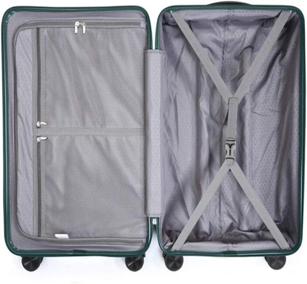 Color : Purple, Size : 141022 inch Size Aishanghuayi Suitcase for Men and Women Caster Boarding passcode Suitcase 34 23 55 cm Green