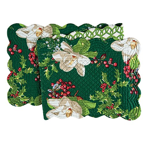 C&F Home 14x51 Quilted Table Runner, Bella Magnolia
