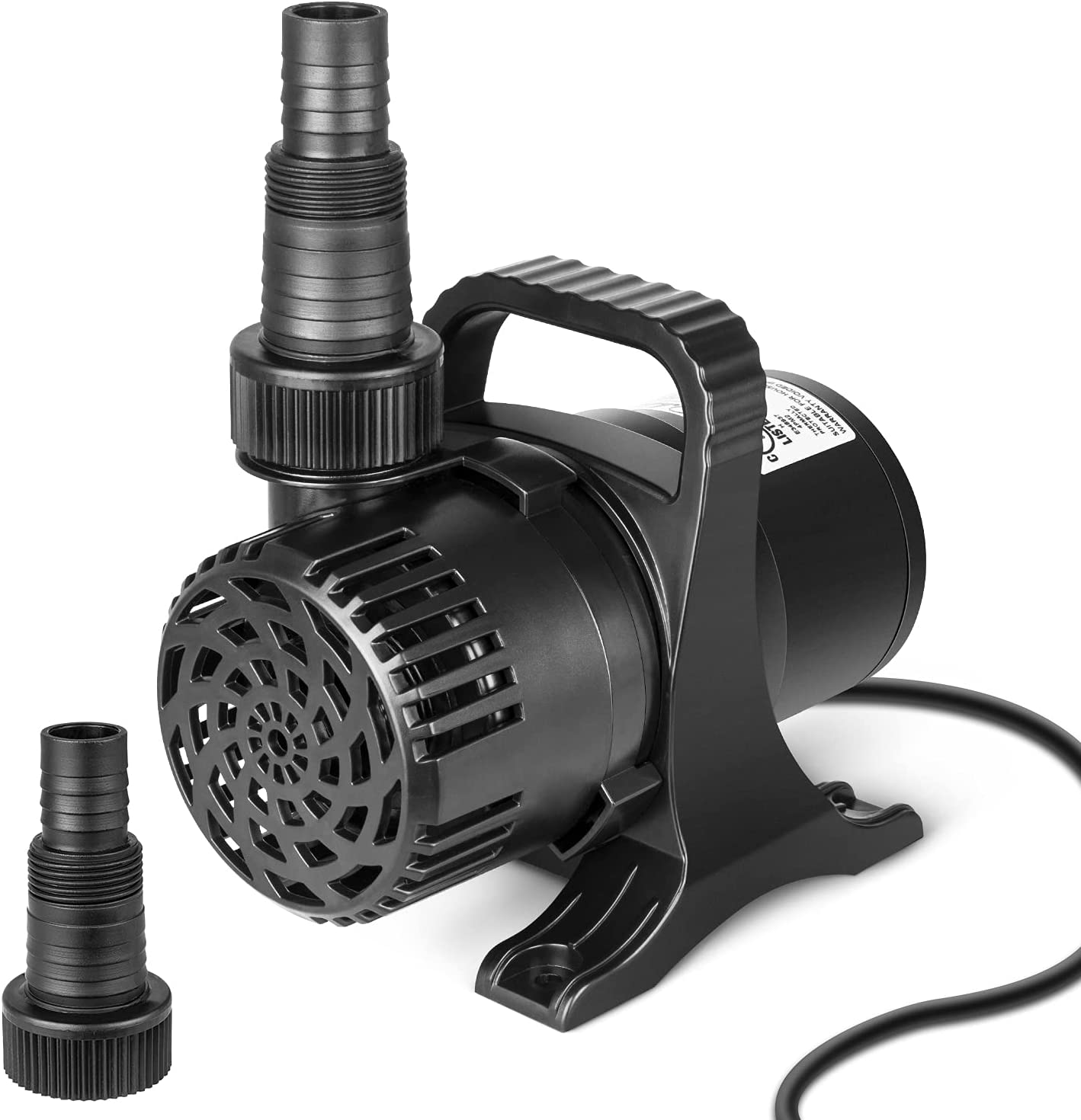Simple Deluxe 120W 2700 GPH Ultra Quiet Submersible Water Pump with 20.3ft Power Cord High Lift for Pond Waterfall Fish Tank Statuary Hydroponic, 2700GPH, Black