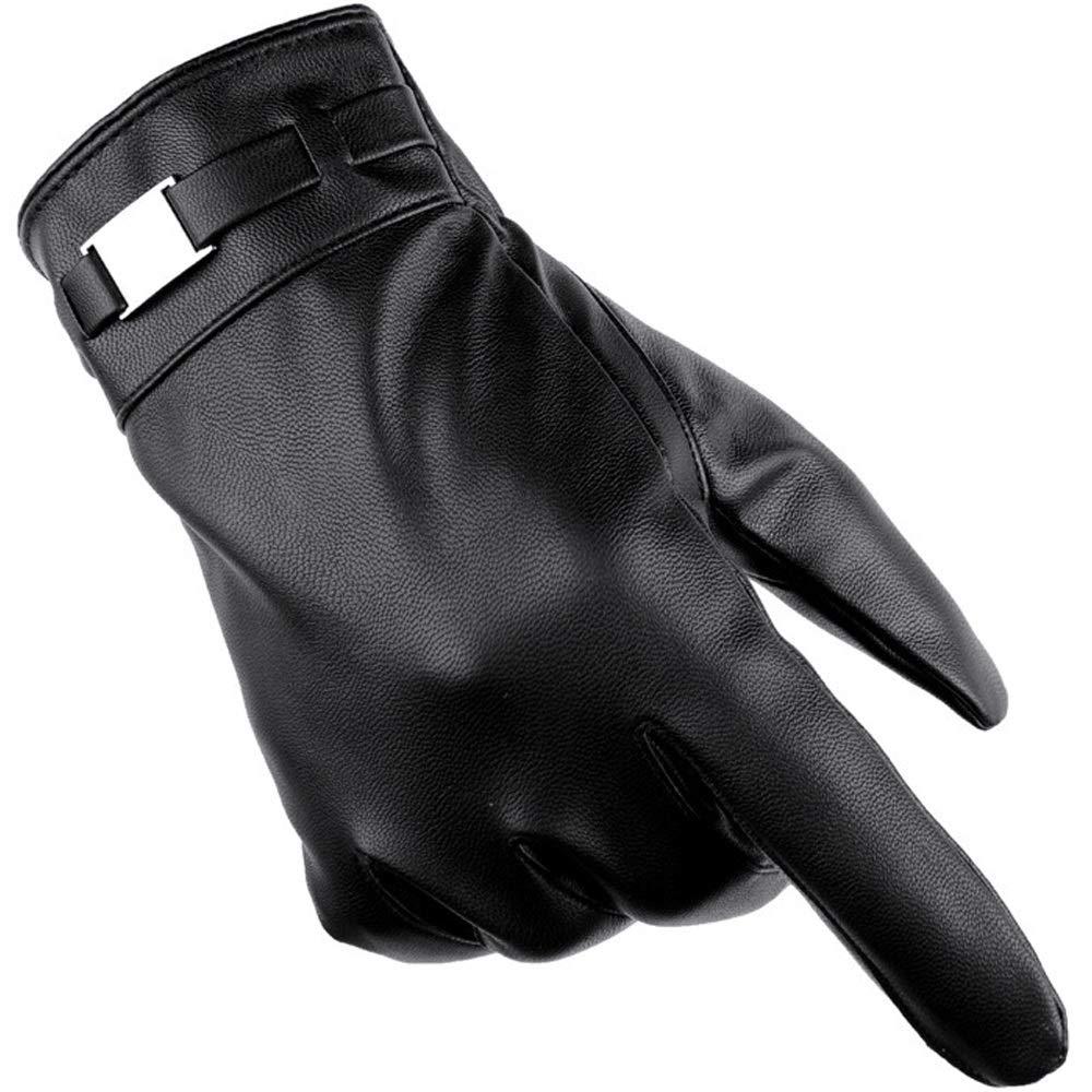 LBYMYB Herren Winter Plus Samt Warme Touchscreen Winddicht Kalt Reiten Outdoor Freizeit Reithandschuhe, Schwarz Handschuh