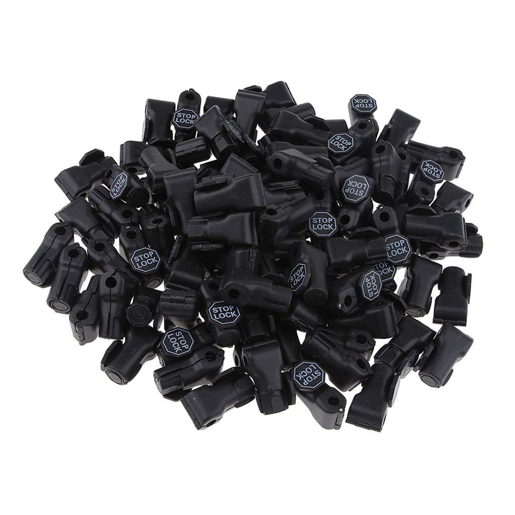 Negro 4.5 mm Candado De Bloqueo De Seguridad De Bloqueo Antirrobo De 100 Piezas Para Cierres De Productos B/ásicos Ganchos Para Supermercados