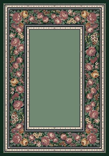 (Milliken English Floral Rectangle Area Rug, 3'10