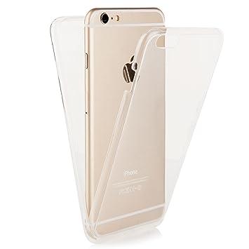 Ego® Double Touch Case Completa TPU Silicona Carcasa para iPhone 6 6S 4,7 360 ° Grados Full Funda Delantera Trasera por ambas Caras Transparente ...