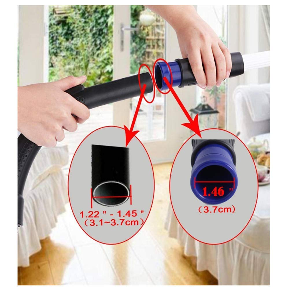PUTTL Dust Brush Vatican Universal Vacuum Cleaner Attachment Corners Small Suction Hose Flexible Car Strong Access to Anywhere Kit Fan pets