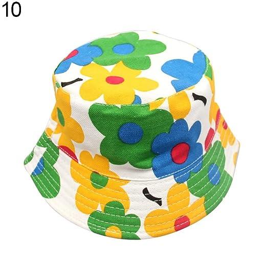 98fdf7ad1f2 SoundsBeauty Baby Cartoon Floral Printed Bucket Sun Hat Children Summer Girls  Boys Kids Cap - 10