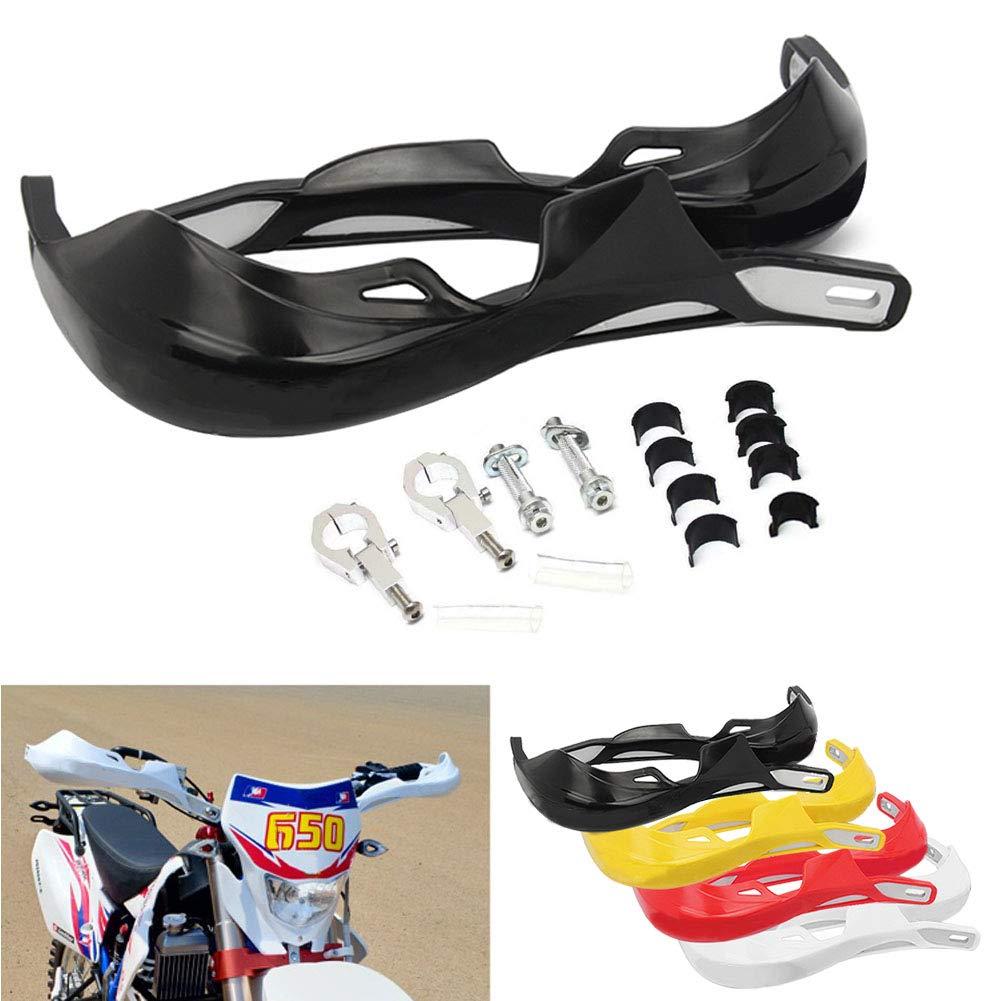 Motocross Garde-Mains 22mm et 28mm Moto Gardes Main Prot/ège Brosse avec des Kits de Montage Universel pour prot/ège-mains VTT Dirt Bike Protection Noir