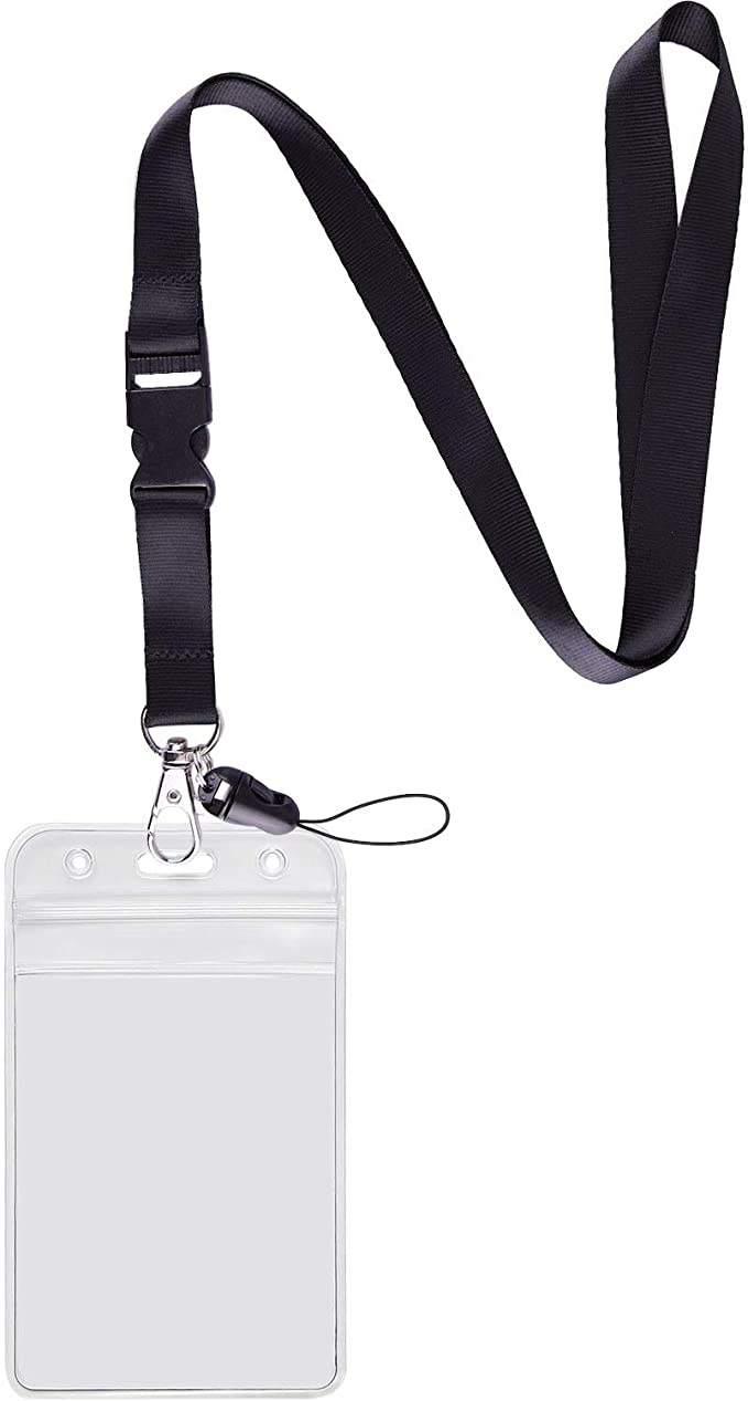Bee Kind Neck Lanyard /& Safety Breakaway /& Horizontal ID Card Holder Black Card Holder