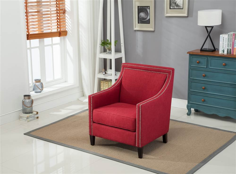 Comfort Pointe 802803 Accent Chair, Red