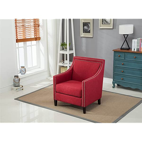 Comfort Pointe Accent Chair in Red 802803