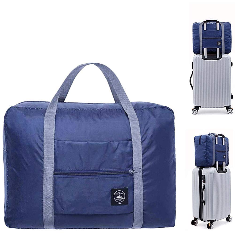 Dark Blue LIHEXING Travel Waterproof Foldable Storage,Foldable Duffel Bag for Travel Camping Hiking shopping Camping
