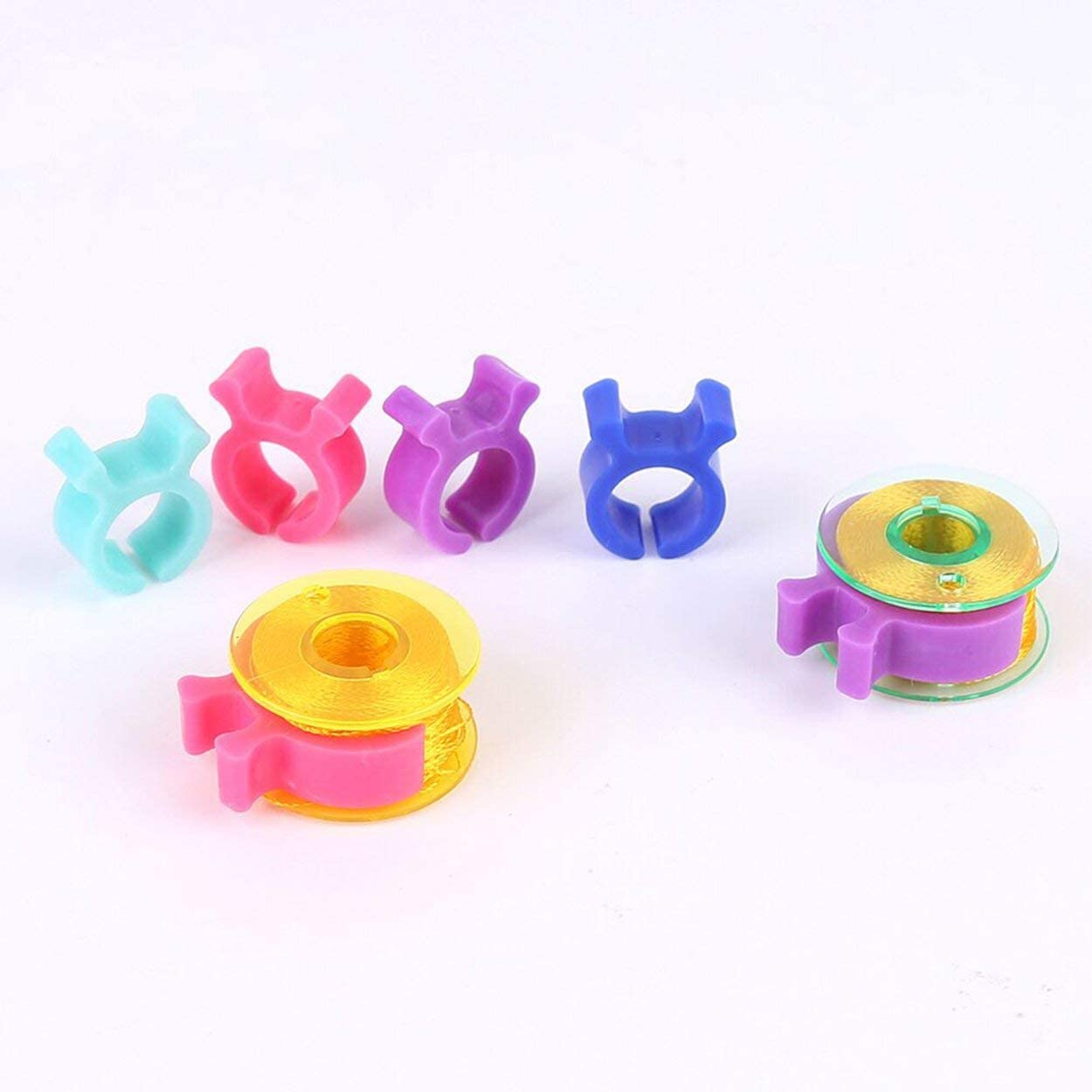 Pack Sewing Bobbin case Small Clips Sewing Tool Accessory Color Thread Clips Holder Tool Fabrics and Textiles,24pcs Other Sewing