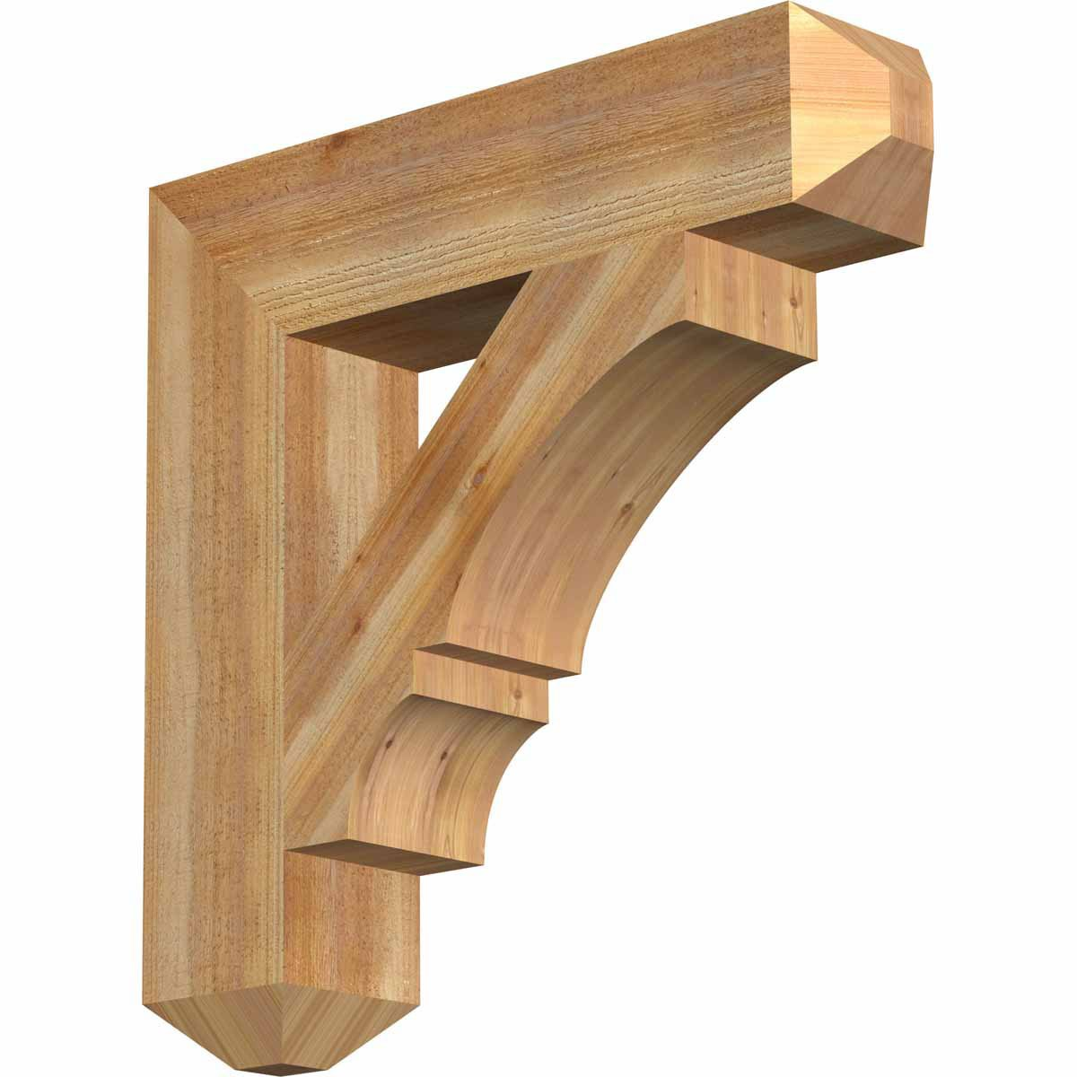 Amazon.com: Ekena Millwork BKT06X28X28BOA04RWR Balboa Craftsman Rough Sawn Bracket, 6
