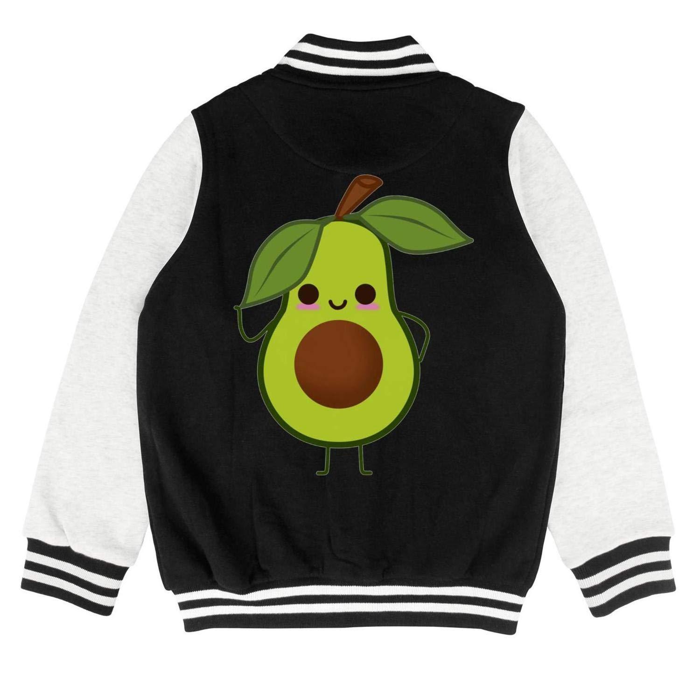 epoyseretrtgty Autumn Boys Girls Short Cute Avocado Say Hi Printing Baseball Jacket Overcoat