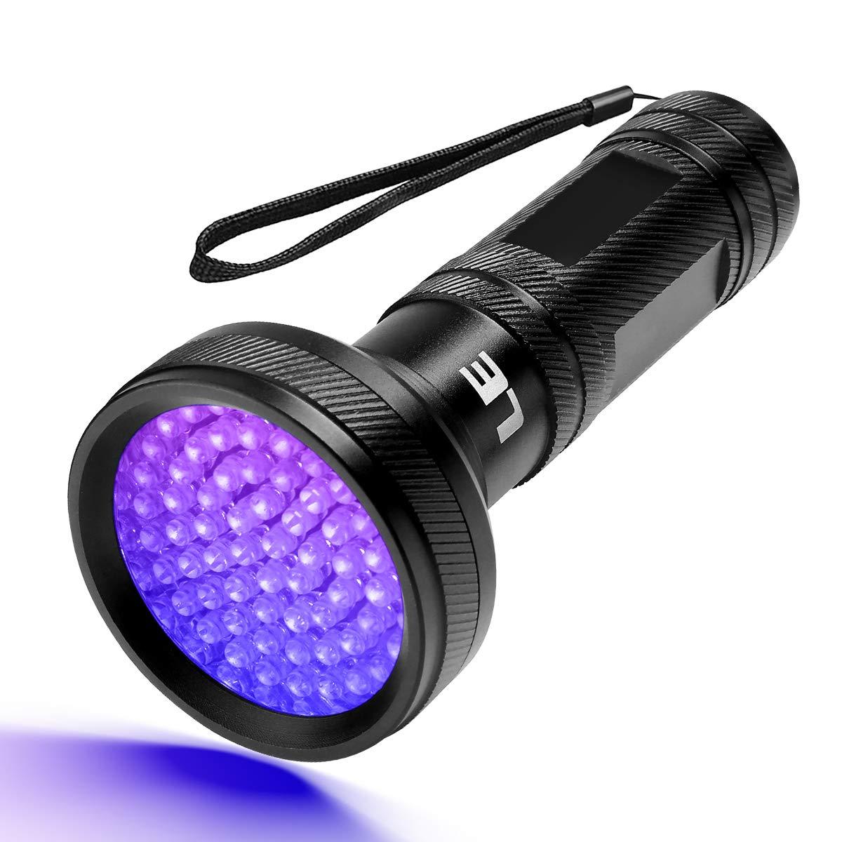 Ultravioleta Detectar Manchas de Orina de Mascotas L/ámpara Port/átil Alta Potente 395nm No Incluido 3 AAA Pilas LE Linterna Ultravioleta Led Linterna UV 68 LED