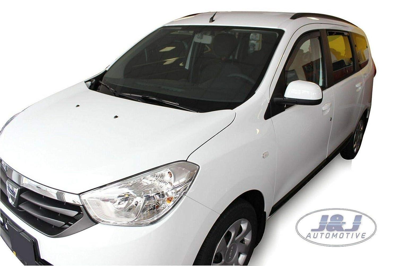 J/&J AUTOMOTIVE Dacia LODGY 5 Portes 2012 pr/és Deflecteurs dair D/éflecteurs de Vent 4pcs