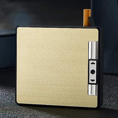 ALHJ Cajas De Cigarrillos con Encendedor, A Prueba De Viento Anti ...