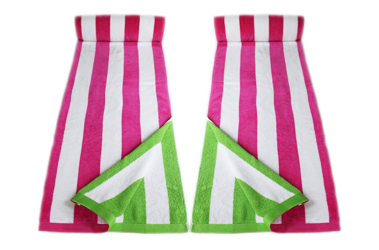Set de 2 Toallas de 85x165cm Caramelos Rosa restmor Toallas de Playa 100/% Algod/ón