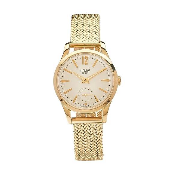 Henry de Londres Unisex Reloj de pulsera analógico de cuarzo Acero inoxidable HL3075CW Westminster de para
