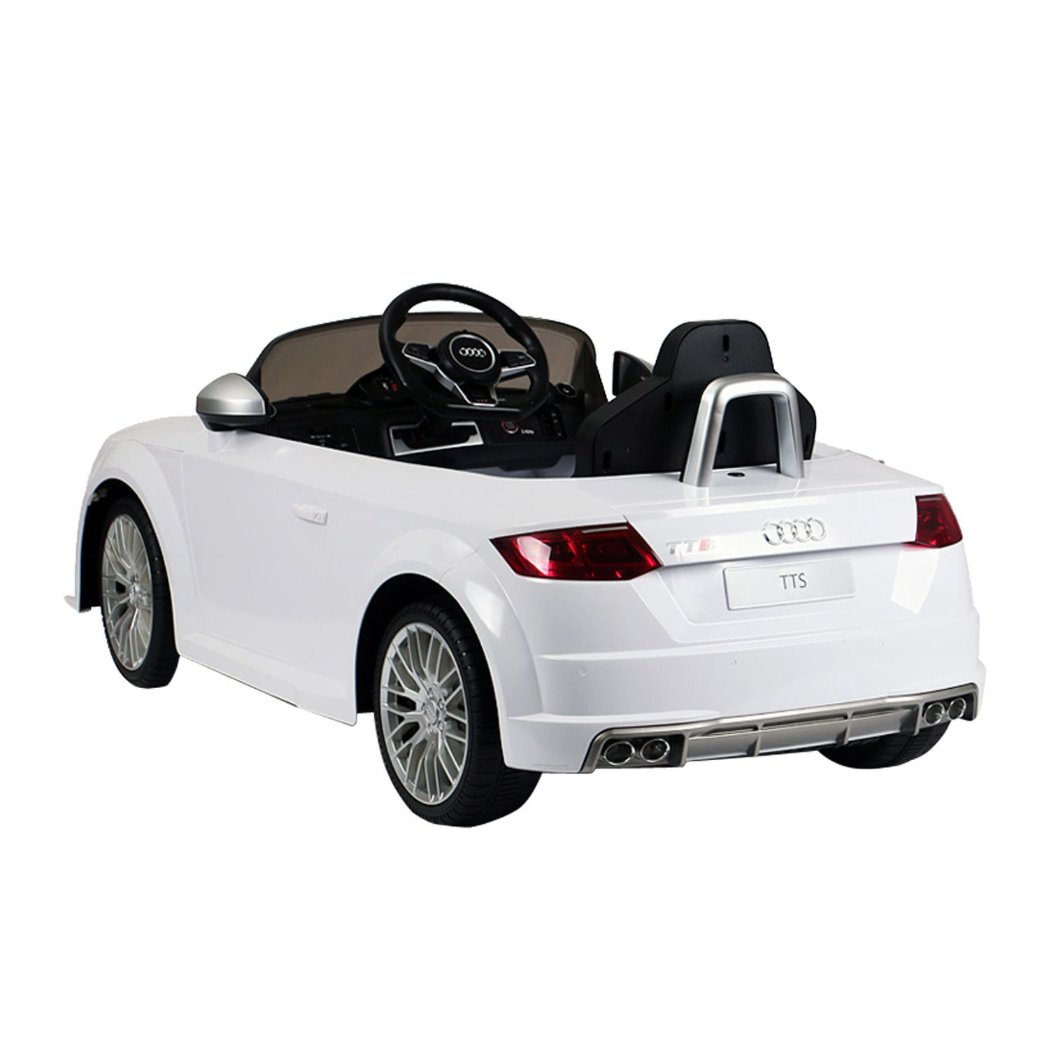 Amazon.com: Audi 6V Kids Electric Ride On Car With Remote Control   White:  Toys U0026 Games