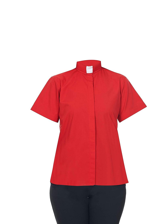 Short Sleeves FHS Ladies Clergy Shirt Tab Collar