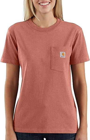 Amazon Com Carhartt Women S K87 Workwear Pocket Short Sleeve T Shirt Regular And Plus Sizes Clothing