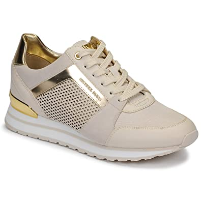 e7d9f3cbdf53 Michael Kors Billie Trainers Nude  Amazon.co.uk  Shoes   Bags