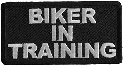 SEW ON PATCH BIKER IN TRAINING BIKER EMBROIDERED IRON