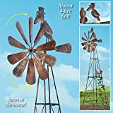 Collections Etc Windmill Metal Garden Trellis for