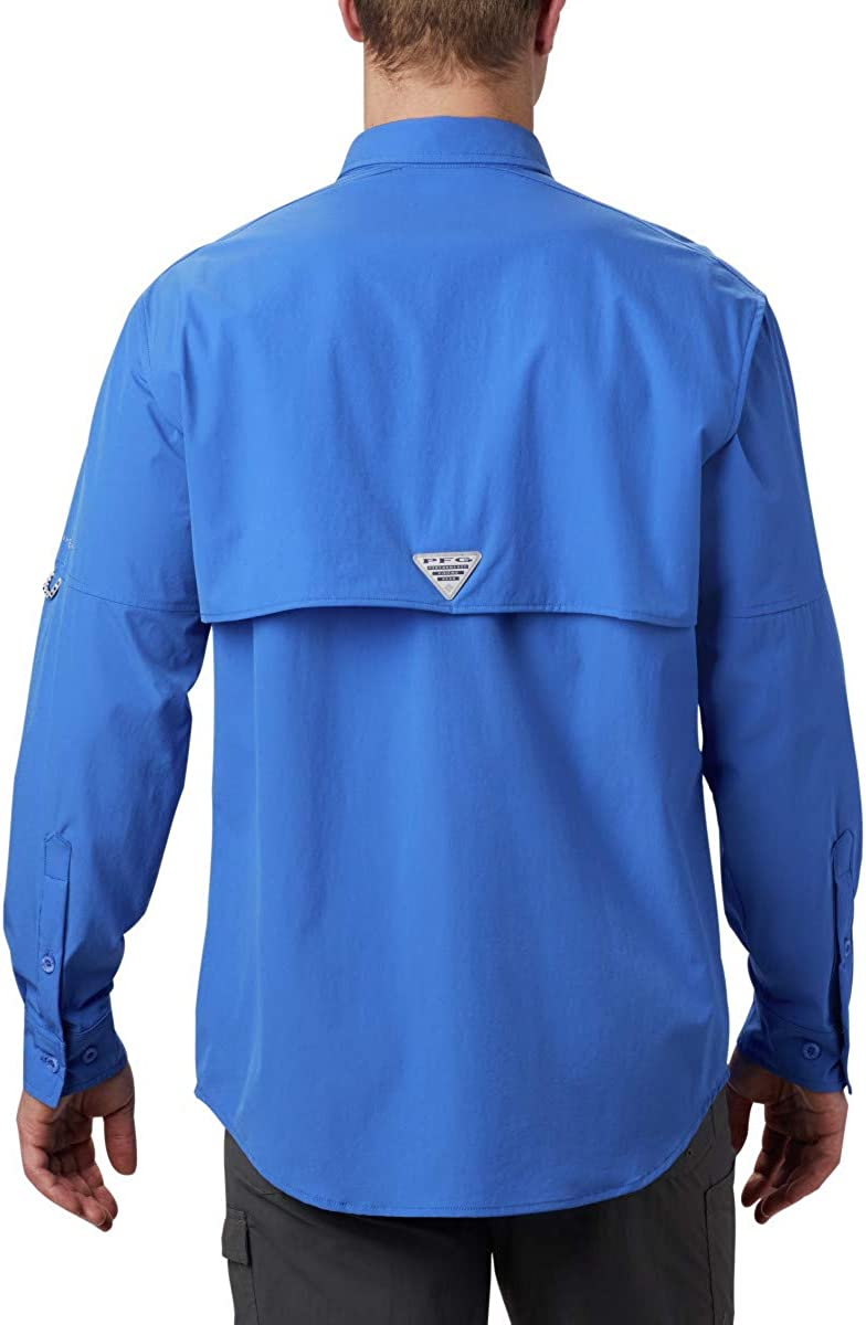 Vented Columbia Men/'s PFG Permit Woven Long Sleeve Shirt Sun Protection