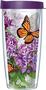 Monarch Butterflies Double Wall Insulated Tumbler with Lid – Thermal Travel Cup for Hot and Cold Drinks with Wrap-Around Design - Microwave and Dishwasher Safe (16 oz)