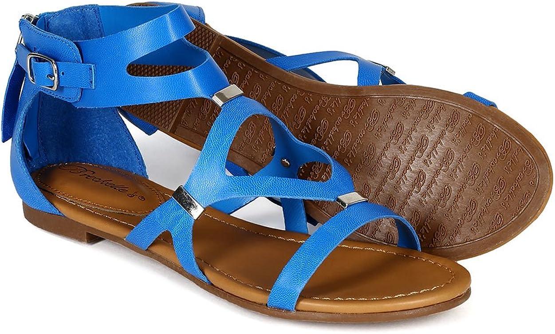 Details about  /New Women DbDk Blairy-2 Leatherette Open Toe Strappy Fringe Stiletto Sandal