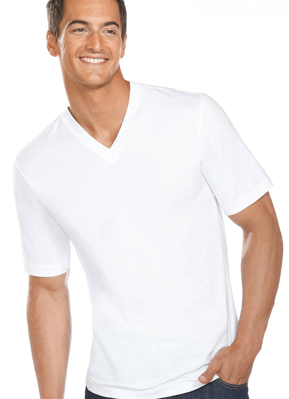 Amazon.com: Jockey Men's T-Shirts Slim Fit Cotton V-Neck - 3 Pack: Clothing